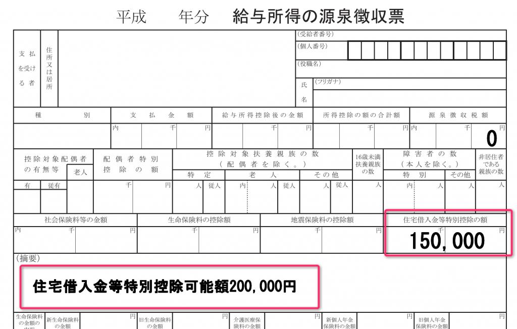 源泉徴収票記載例