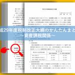 H29税制改正大綱の資産課税関係